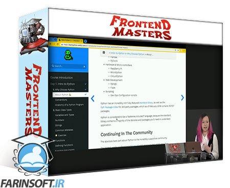 دانلود Frontend Masters Python Fundamentals