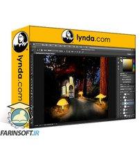 دانلود lynda Creating Dreamscapes in Photoshop: Mushroom House