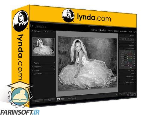دانلود lynda Enhancing a Black-and-White Wedding Photo with Lightroom