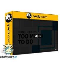 دانلود lynda What to Do When There's Too Much to Do (getAbstract Summary)