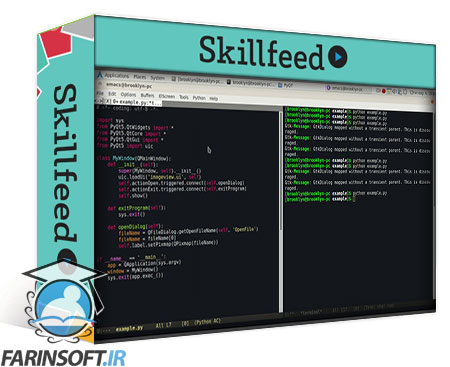 دانلود Skillshare Python Desktop Apps with PyQT5