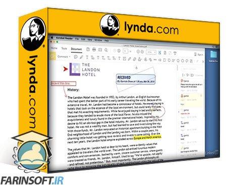 دانلود lynda Learning Acrobat Reader DC