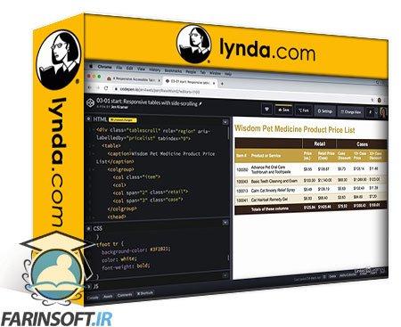دانلود lynda HTML: Tables