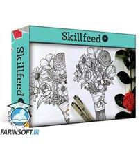 دانلود Skillshare Floral Illustration – Learn to draw Assorted Flowers – Ink Pen Sketching