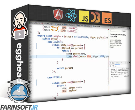 دانلود egghead Build Redux Style Applications with Angular, RxJS, and ngrx/store