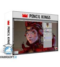 دانلود PencilKings Coloring in Photoshop – Samurai Girl Character Design