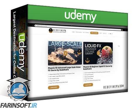 دانلود Udemy RedefineFX – Phoenix FD Fire & Smoke FX Course