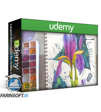 دانلود Udemy Easy Watercolor Iris Flower Painting with Galaxy Background