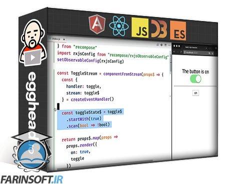 دانلود egghead Build React Components from Streams with RxJS and Recompose