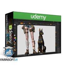 دانلود Udemy Girl and the Dog Creation in Zbrush for Intermediate Level