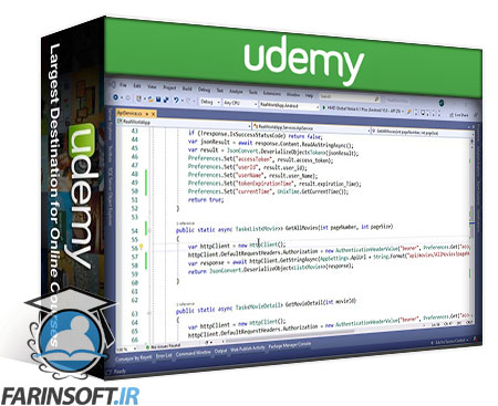 دانلود Udemy Build Cinema Ticket Reservation Application With Xamarin Forms
