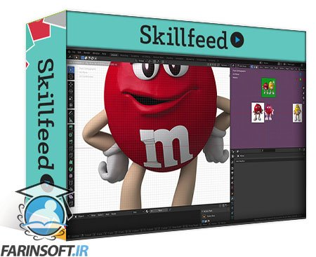 دانلود Skillshare Modeling The Famous Red M&M Character