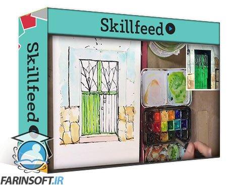 دانلود Skillshare Paint Lively and Colorful Doors with Ink and Watercolor
