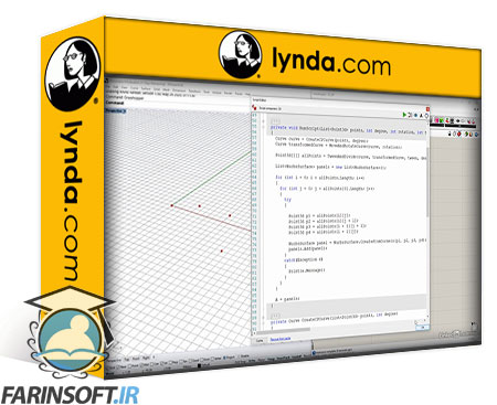 دانلود lynda Grasshopper and Rhino: C# Scripting