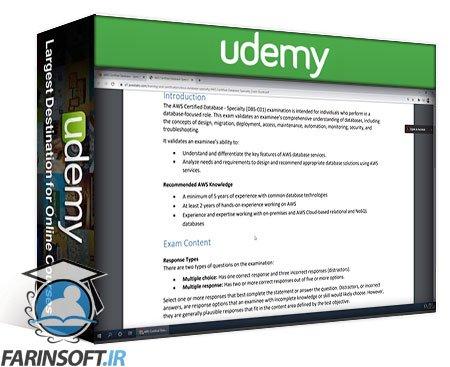 دانلود Udemy [NEW] Ultimate AWS Certified Database Specialty – 2020