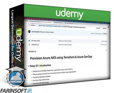 دانلود Udemy Azure Kubernetes Service with Azure DevOps and Terraform