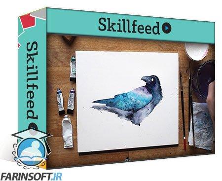 دانلود Skillshare Raven. A Free-Flow Watercolour Master Class with Jane Davies