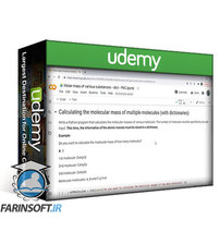 دانلود Udemy Introduction to programming with Python for Chemistry