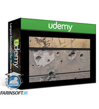 دانلود Udemy LevelUp – Plaster Wall with Parameter-driven Bullet Holes