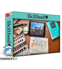 دانلود Skillshare Ink+Watercolor Sketch of the Pantheon. Capture Memories from Your Own Roman Holiday!
