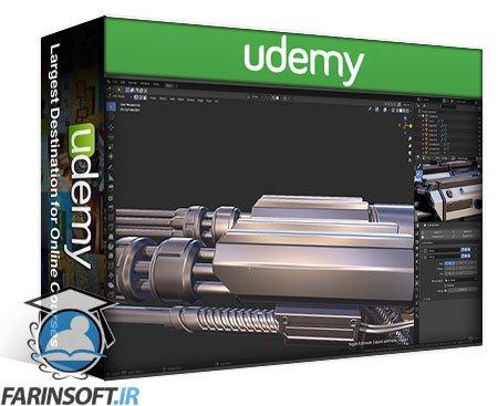 دانلود Udemy Blender Complete PBR Art Creation : Sci-fi Crate and Turret