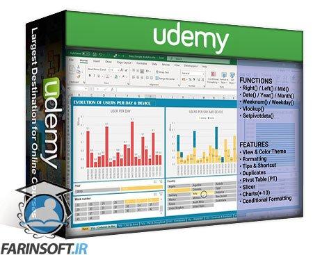دانلود Udemy Excel & Data Visualization, creating impactful dashboards
