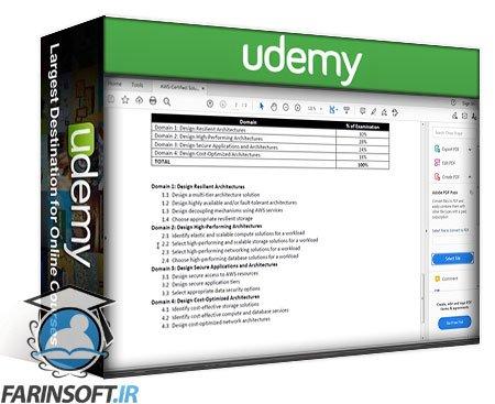 دانلود Udemy AWS Solutions Architect Associate Certification Crash Course