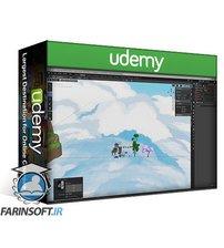 دانلود Udemy Blender 3D Model a Ghibli Art Stylized Scene
