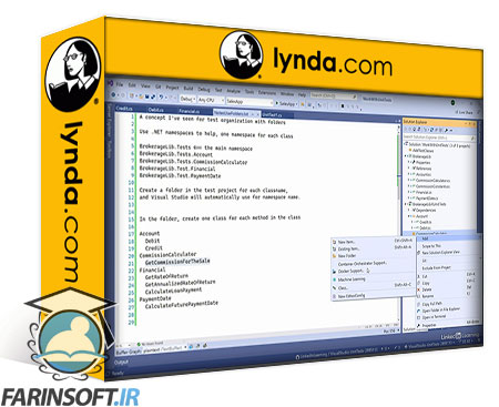 دانلود lynda Visual Studio Deep Dive: Unit Tests