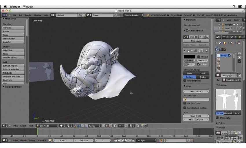 Blender Character Modeling 4 Of 10 : آموزش lynda character modeling in blender فرین سافت