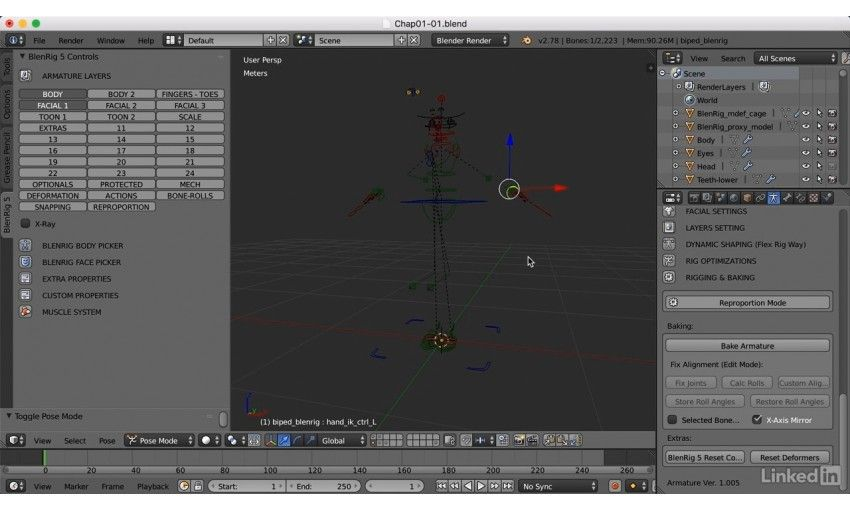 Lynda blender character rigging with blenrig for Creative interior designs by lynda