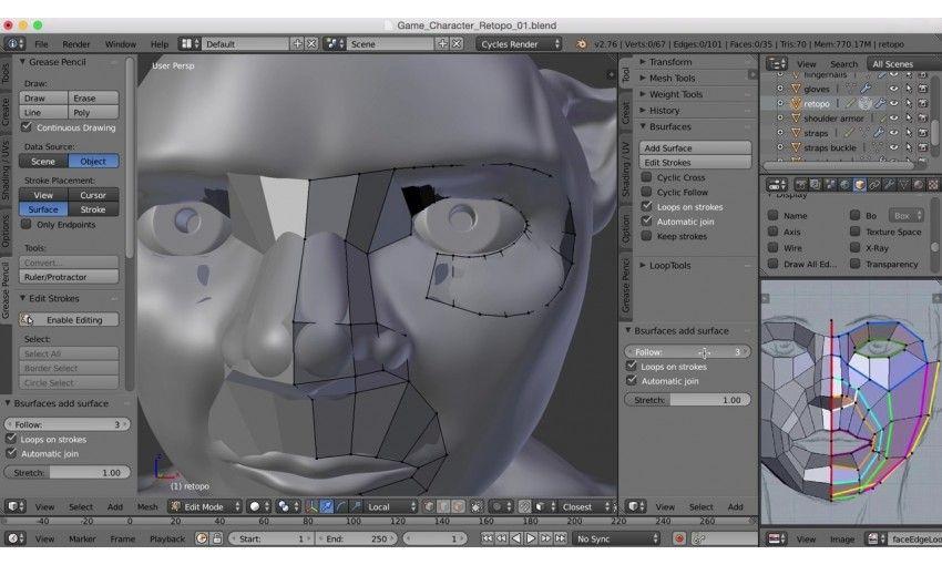 دانلود آموزش CG Cookie Blender 101 Blender 301 Game