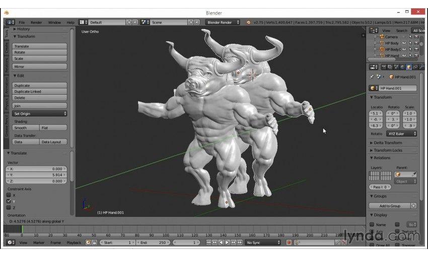 Character Modeling In Blender Lynda : Lynda blender creating a game aracter