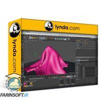 دانلود آموزش Lynda Cloth Simulations for Motion Graphics in CINEMA 4D