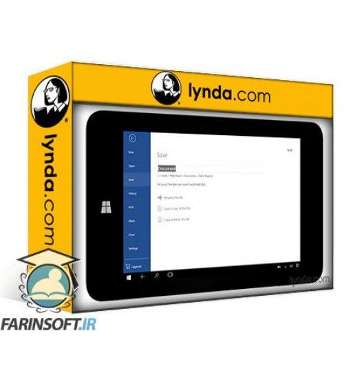آموزش Lynda Up and Running with Office Mobile for Windows 10