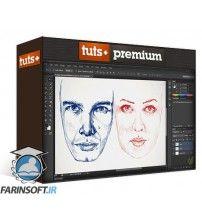 دانلود آموزش Tuts+ Digital Portrait Drawing
