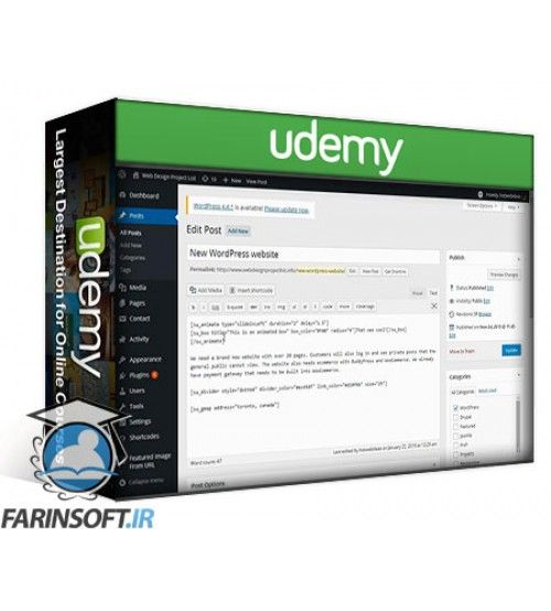 آموزش Udemy WordPress eCommerce for WooCommerce WordPress Beginners