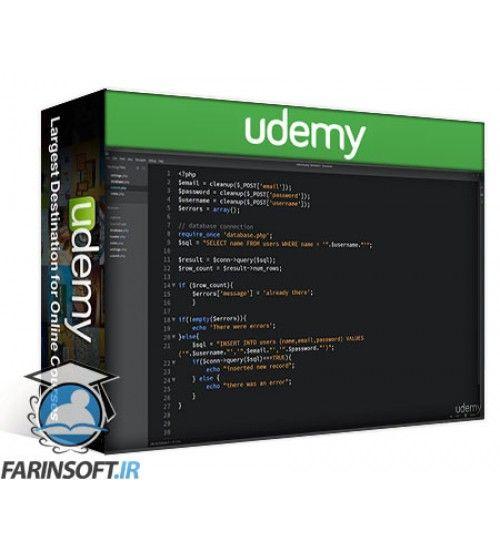 آموزش Udemy Create a Dynamic User Registration Form from scratch