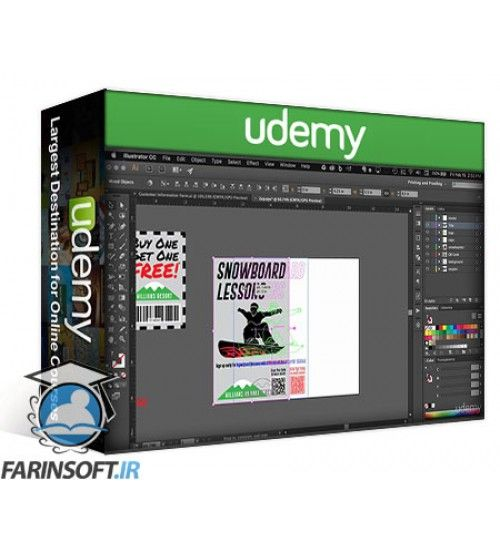 آموزش Udemy Adobe Illustrator CC – Print Design for Beginners