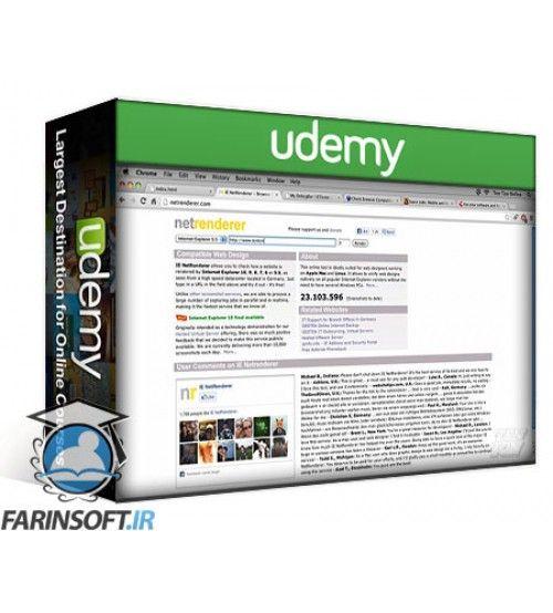 آموزش Udemy Applying Design To Wireframes with HTML5 & CSS3