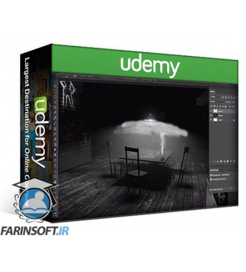 آموزش Udemy Photoshops Smudge Tool for Digital Painting