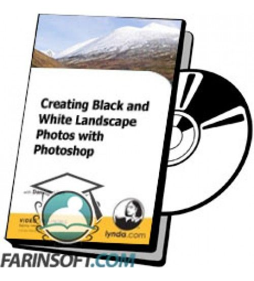 آموزش Lynda Creating Black and White Landscape Photos with Photoshop
