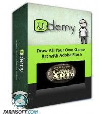 آموزش Udemy Draw All Your Own Game Art with Adobe Flash