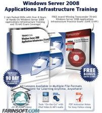 آموزش  Exam 70-643 : Windows Server 2008 Application Infrastructure