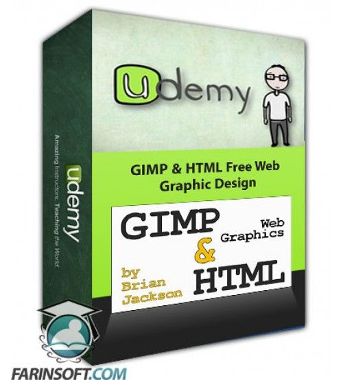 آموزش Udemy GIMP & HTML Free Web Graphic Design