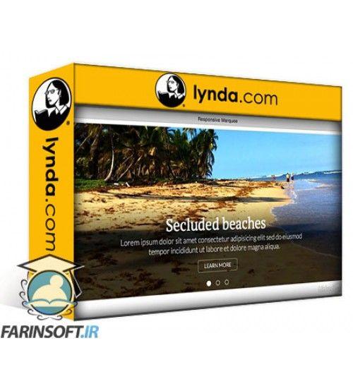 آموزش Lynda Creating a Responsive Homepage Marquee