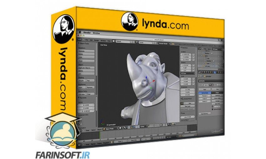 Blender Character Modeling Dvd : آموزش lynda character modeling in blender فرین سافت