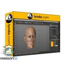 آموزش Lynda Sculpting  and Painting a Head in CINEMA 4D