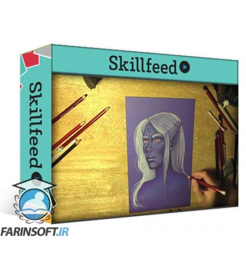 آموزش SkillFeed A Beginners Guide to Fantasy Portraits with Pastel Pencils