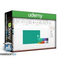 آموزش Udemy How To Design Flat Business Cards In PowerPoint